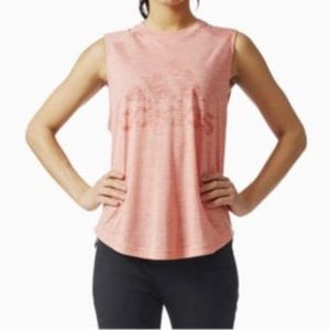 pink adidas sleeveless top